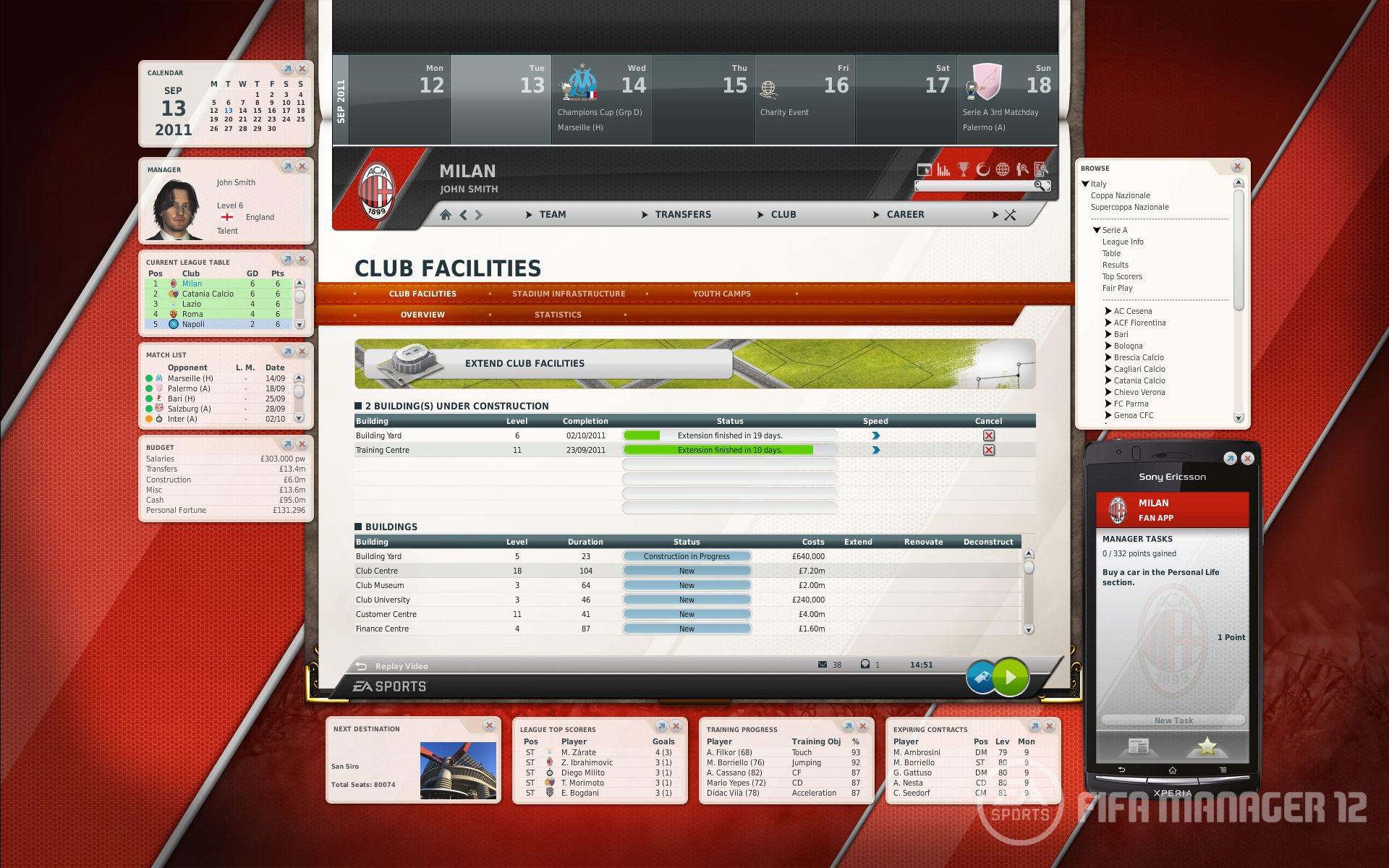 FIFA Manager 12 - Prime immagini