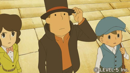 Professor Layton and the Miracle Mask - Primi screenshot