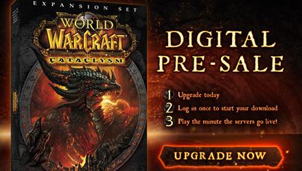 È attivo il preorder per World of Warcraft: Cataclysm su Battle.net