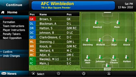 Football Manager Handheld 2011 disponibile per PlayStation Portable