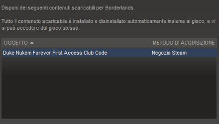 La demo di Duke Nukem Forever per chi ha una copia di Borderlands su Steam