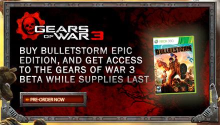 La Epic Edition di Bulletstorm regala un invito alla beta di Gears of War 3