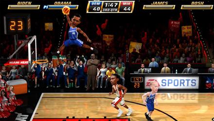 NBA Jam: Clinton, Obama, Palin, Gore e altri politici tra gli atleti in campo
