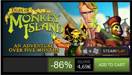 Tutti i cinque episodi di Tales of Monkey Island a meno di 5 euro su Steam!