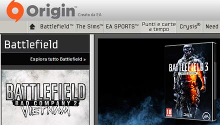 Battlefield 3 su PC richiederà un account Origin