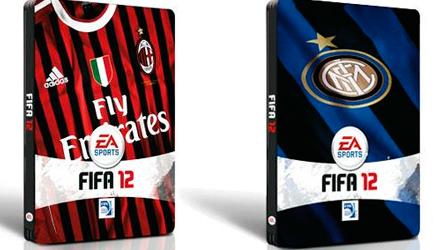 FIFA 12: EA presenta le steel box dedicate a Milan e Inter