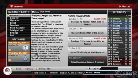 FIFA 12: primi dettagli sulla modalità Carriera