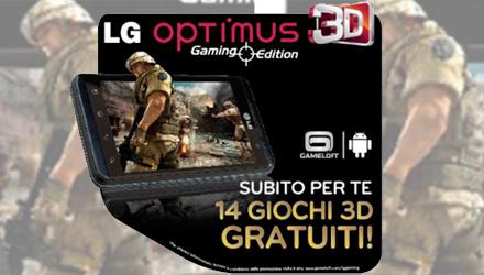 LG Optimus 3D Gaming Edition regala 14 giochi 3D per Android