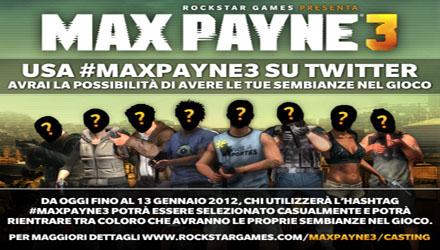 Max Payne 3: un concorso per prestare il proprio volto al gioco