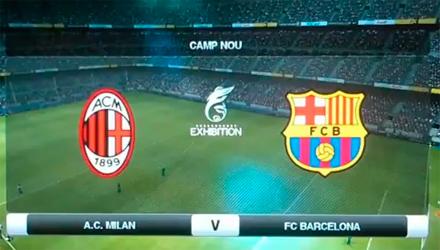 PES 2012: filmati i match Milan-Barcellona e Spagna-Germania