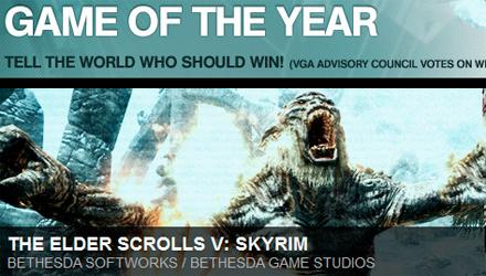 Skyrim e Bethesda trionfano ai VGA 2011