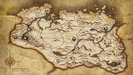 Skyrim: svelata in anteprima la mappa completa