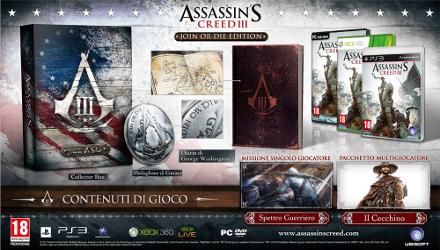Assassin's Creed 3, confermate tre edizioni speciali