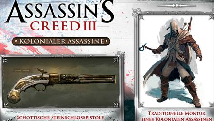 Assassin's Creed 3: i bonus per il pre-ordine di GameStop