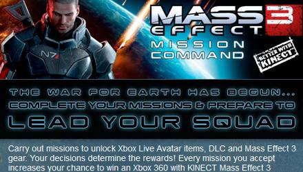 Mass Effect 3: contenuti extra su Xbox 360 con l'applicazione Facebook