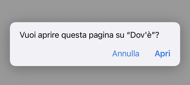 Aprire Dov'è - iOS 14.3