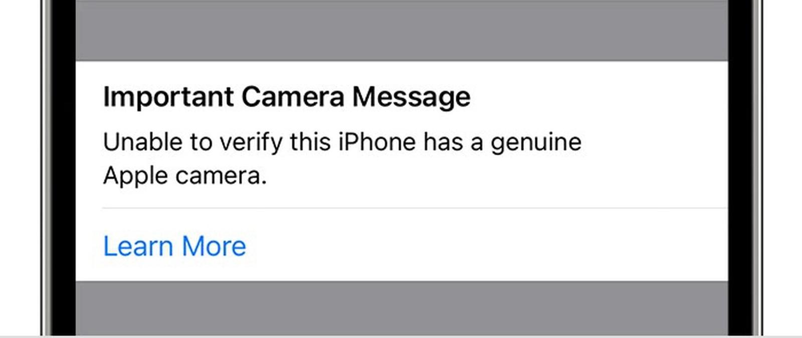 iPhone Avviso Componenti Non Originali