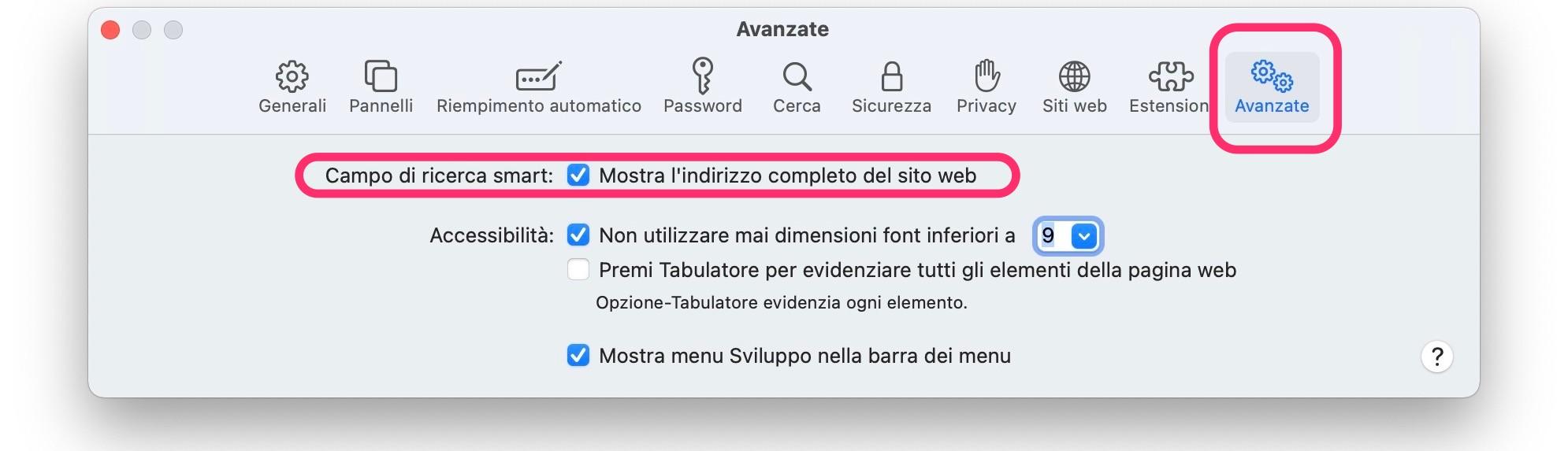 Visualizzare URL per Intero Safari