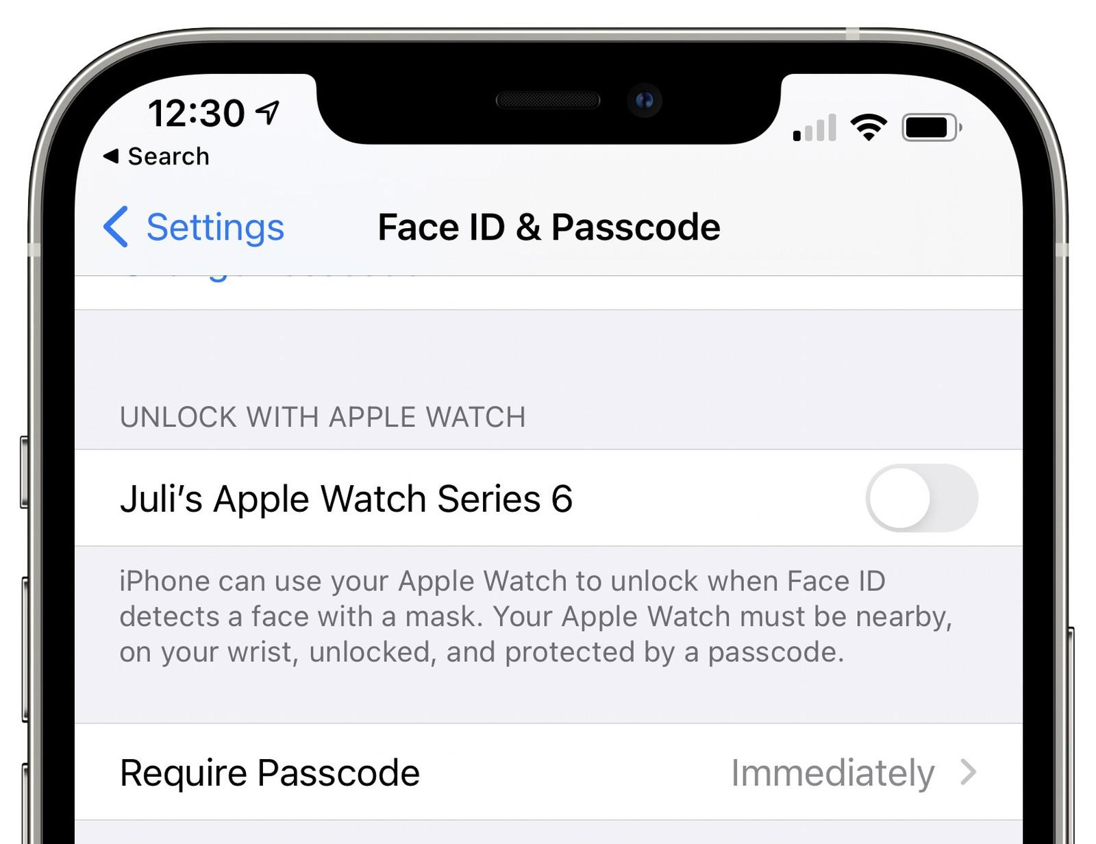 Sblocca iPhone con Apple Watch
