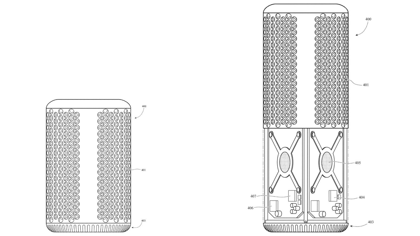 Mac Pro - design sferico tridimensionale