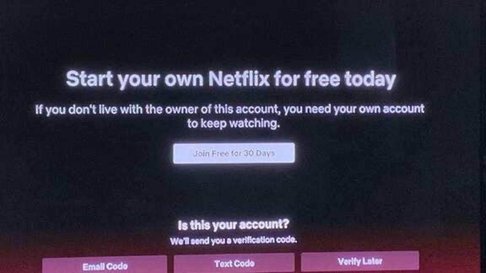 Netflix Prove di Blocco