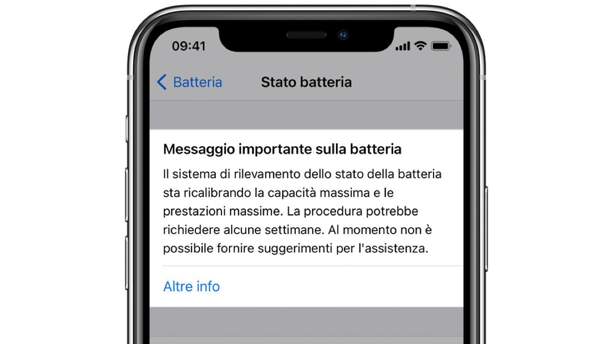Ricalibrazione Batteria iOS 14.5