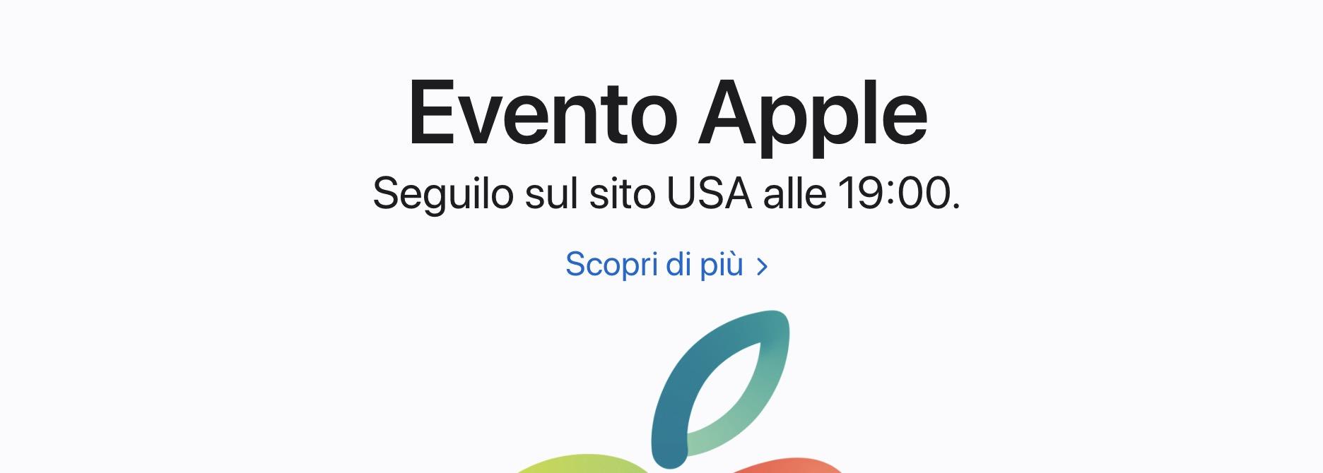 Seguire Evento Apple in Italiano