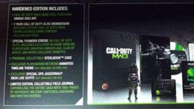 Modern Warfare 3: mostrati i contenuti della Hardened Edition