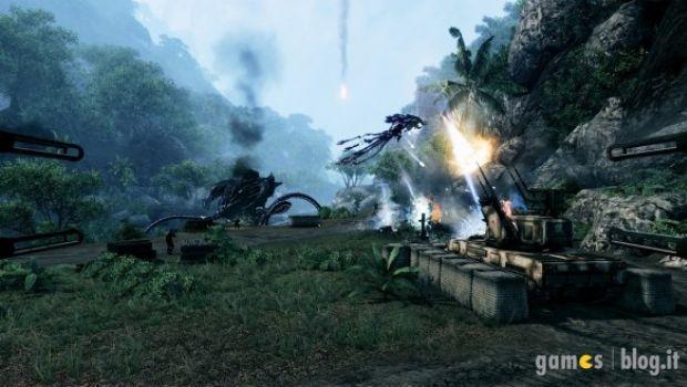 """Crysis: immagini comparative delle versioni PC (livello di dettaglio """"Alto"""") e PS3-X360"""