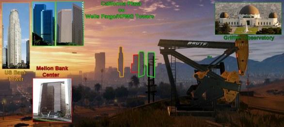Grand Theft Auto V: le analogie architettoniche tra Los Santos e Los Angeles in una serie di immagini esplicative