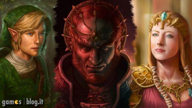 Zelda, Ganondorf e Link nei ritratti di Dudu Torres