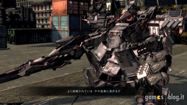 Armored Core 5: immagini di gioco, render dei mech e dettagli sull'interfaccia tattica