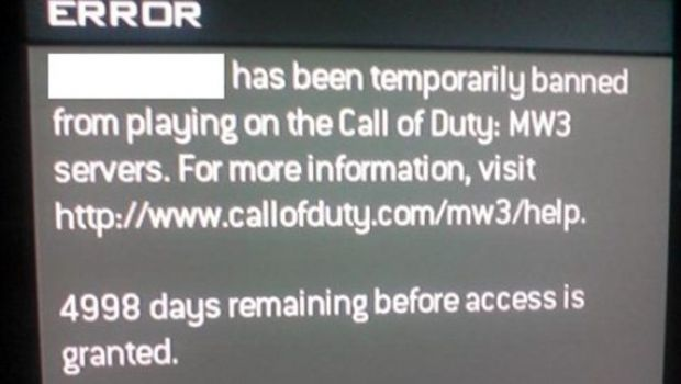 Modern Warfare 3: inflitti i primi ban di 5000 giorni