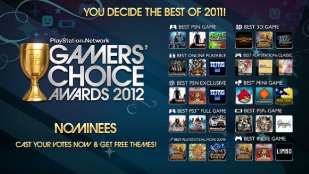 PSN Gamers' Choice Awards 2012: elenco dei titoli candidati – inizio alle votazioni da domani