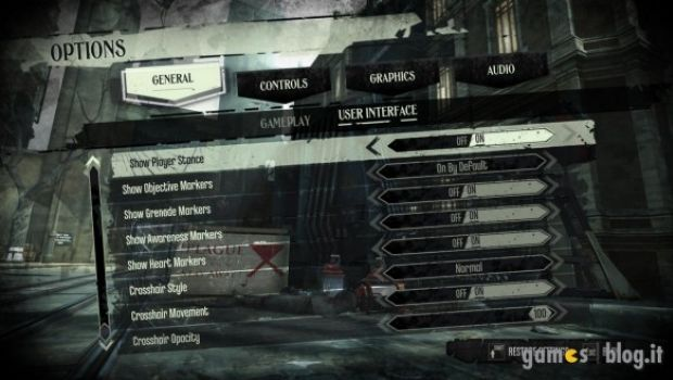Dishonored: immagini e dettagli sull'interfaccia dedicata della versione PC