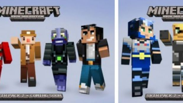 "Minecraft Skin Pack 2 per la X360 Edition: ""costumi"" da Gears of War e Left 4 Dead"