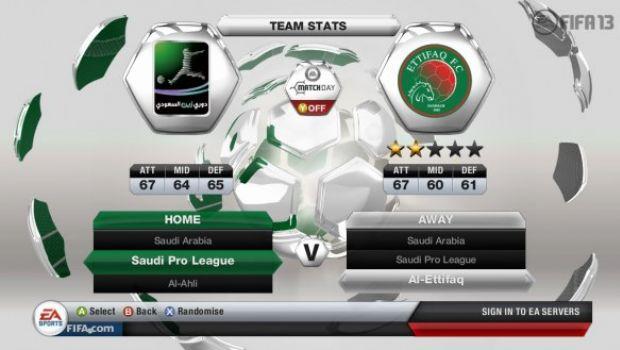 FIFA 13: il campionato saudita si presenta in foto