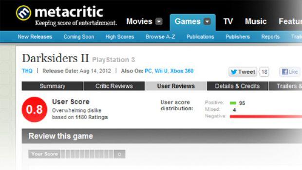Darksiders II: troll russi annientano il rating su Metacritic, crolla a 0.8 punti