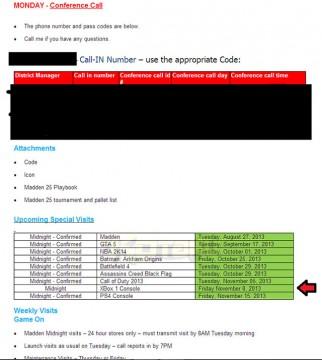 Xbox One, data d'uscita svelata da un'email interna di Walmart?