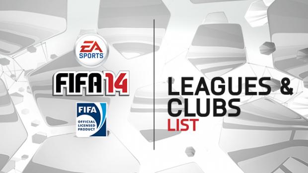 FIFA 14: elenco completo di campionati e club presenti
