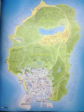 Grand Theft Auto V, l'enorme mappa di gioco svelata online