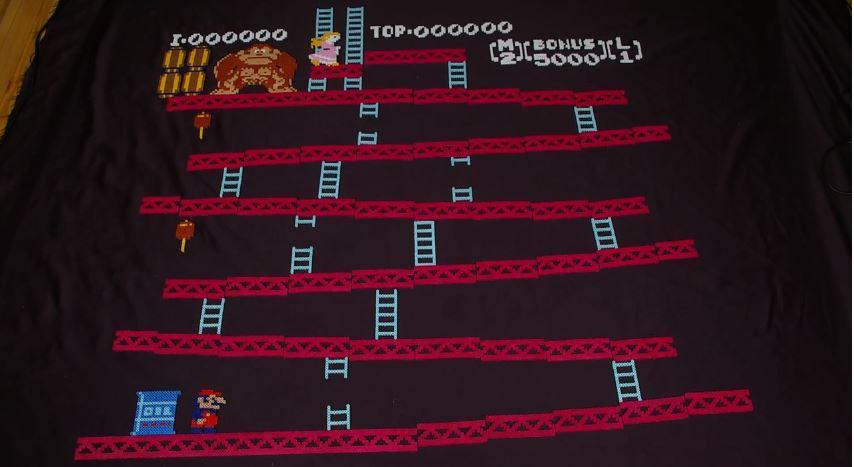 Donkey Kong ricreato in stop-motion