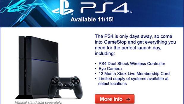 PlayStation 4, svista clamorosa per GameStop: tra gli accessori abbonamento a Xbox Live