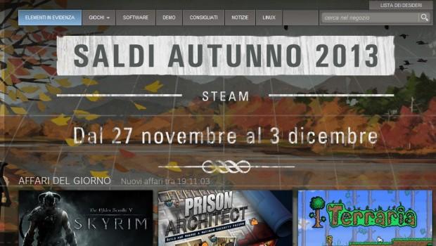 Steam, arrivano gli sconti autunnali fino al 3 dicembre