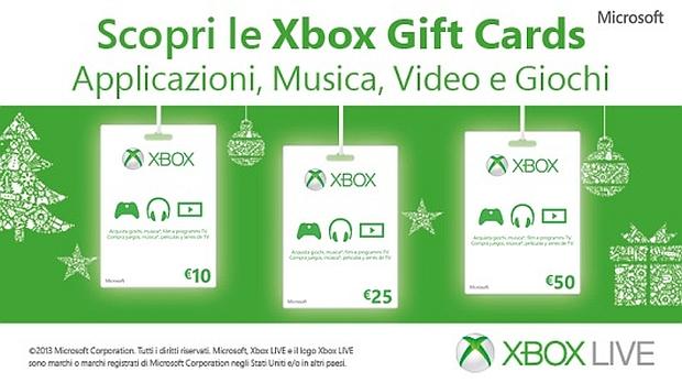 Xbox Gift Cards: Microsoft presenta le carte regalo per Natale