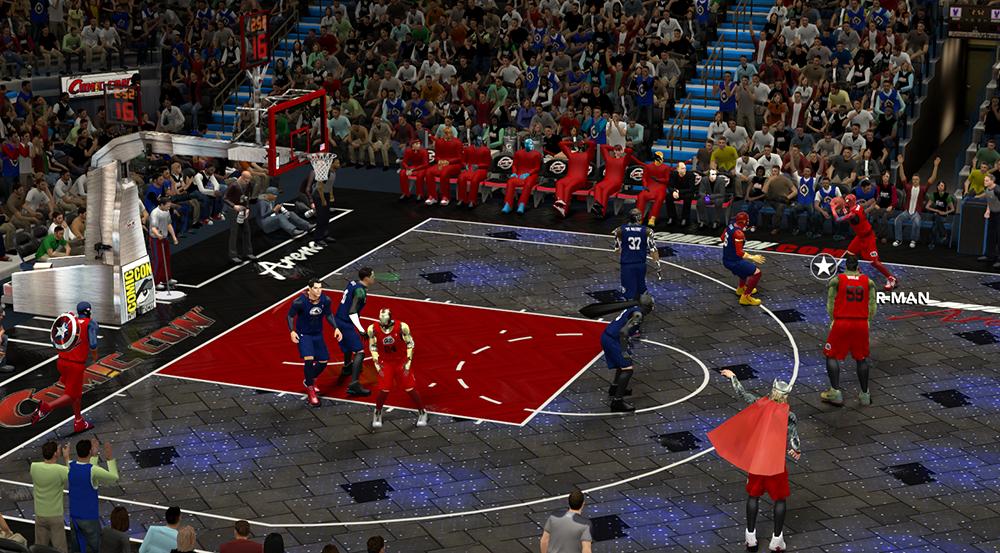 NBA 2K14: la mod Avengers vs. Justice League trasforma tutti in supereroi