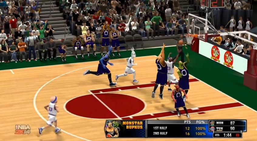 NBA 2K14 diventa Space Jam grazie a una mod