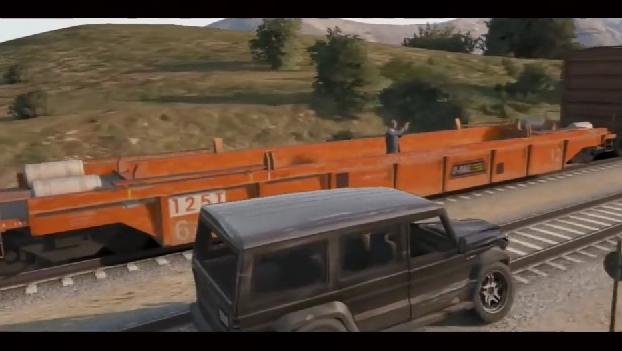 Grand Theft Auto V: il video della lotta sul treno di Skyfall riprodotta nel gioco