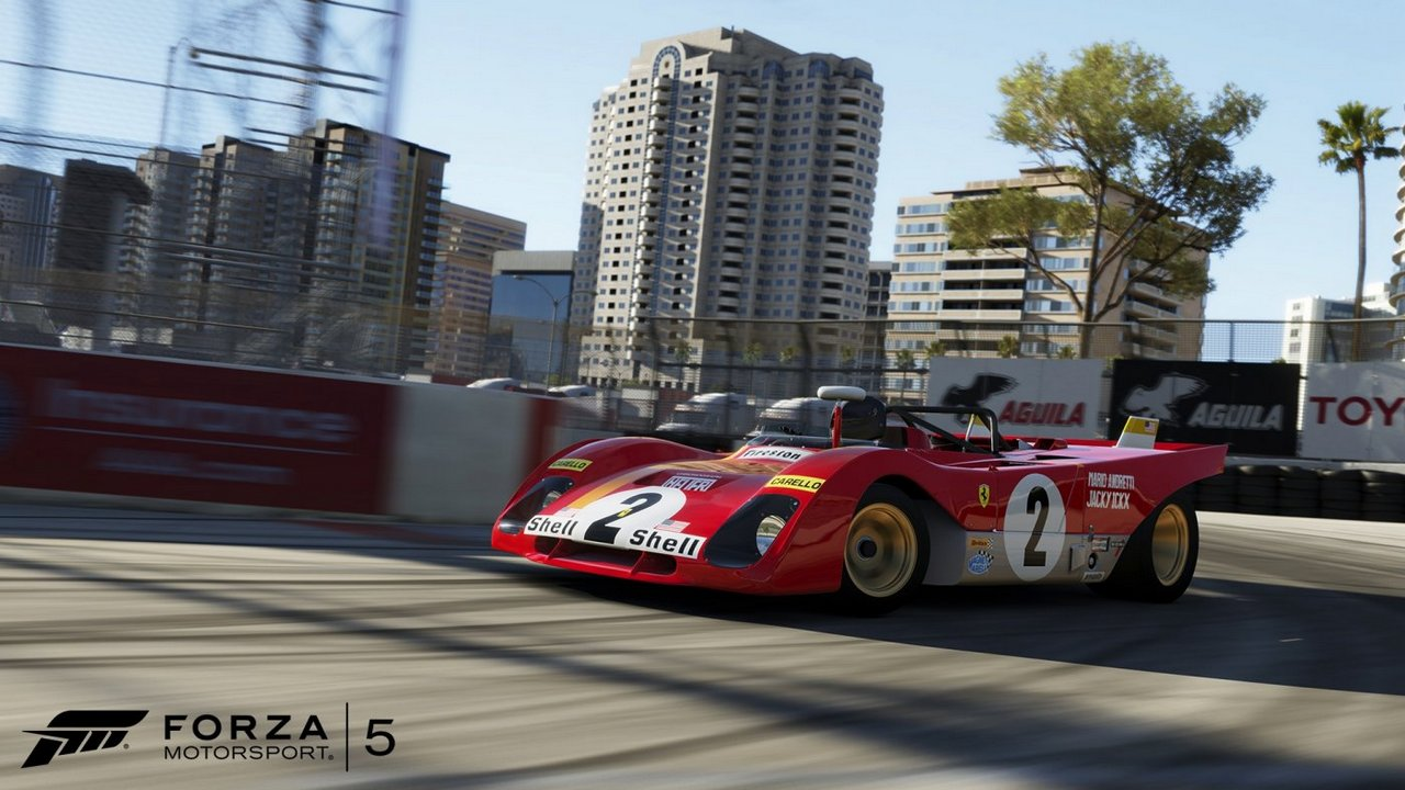 Forza Motorsport 5: immagini e video di lancio del circuito di Long Beach e del relativo Booster Pack