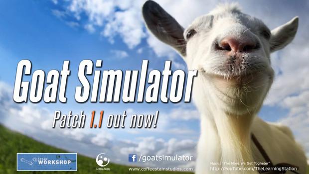 Goat Simulator: l'update 1.1 è disponibile – guarda il folle trailer di lancio
